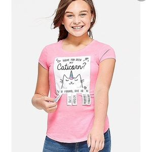 Justice Caticorn T-shirt size 12.